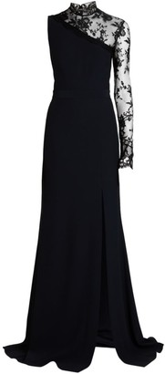 Alexander McQueen Lace One-Shoulder Gown