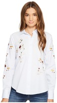 Blank NYC Embroidered Shirt in In Bloom Women's Clothing