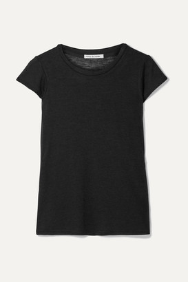 Frances de Lourdes - Garcon Cashmere And Silk-blend T-shirt - Black