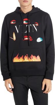 Valentino x Emilio Villalba VLTN Flame Graphic Hoodie