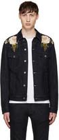 Dolce & Gabbana Blue Embroidered Denim Jacket