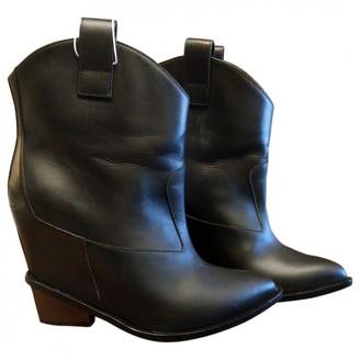 Giuseppe Zanotti Black Leather Ankle boots