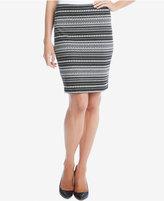 Karen Kane Jacquard Knit Pencil Skirt