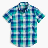 J.Crew Boys' Secret Wash shirt in check