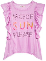 Kandy Kiss Ruffle-Sleeve T-Shirt, Big Girls (7-16)