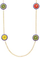 Miguel Ases Women's Beaded Disc Station Necklace