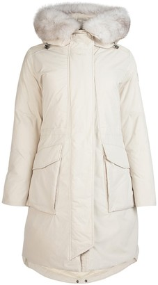Woolrich Hooded Military Parka Coat