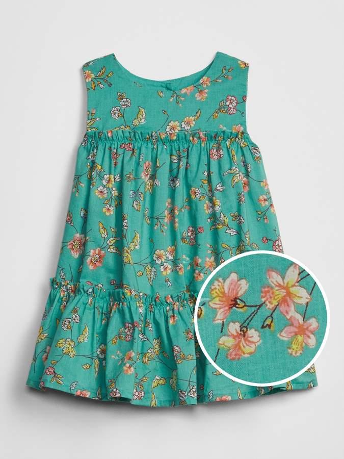 0bd8b24b5834e Kids Floral Print Tiered Dress - ShopStyle