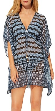 BLEU by Rod Beattie Island Time Printed Cover Up Caftan