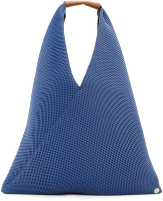 MM6 MAISON MARGIELA Blue Mesh Small Triangle Tote
