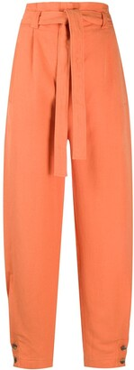 Alberta Ferretti Belted High Waisted Trousers