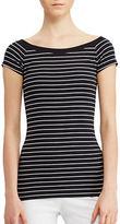 Lauren Ralph Lauren Striped Off-the-Shoulder Tee