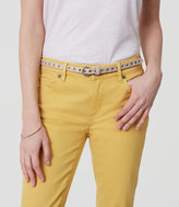 LOFT Metallic Perforated Skinny Belt