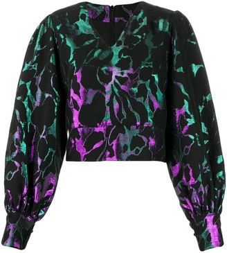FEDERICA TOSI Abstract Print Cropped Blouse