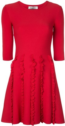 Valentino ruffle detail dress