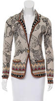 Etro Paisley Patterned Silk Cardigan