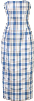 Carolina Herrera Plaid Print Sheath Dress