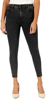 KUT from the Kloth Connie High Waist Sparkle Side Stripe Ankle Skinny Jeans