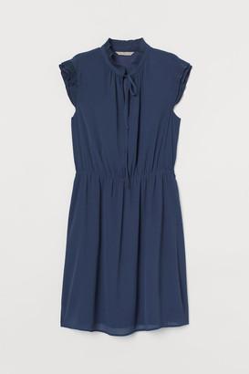 H&M Cap-sleeved Dress - Blue