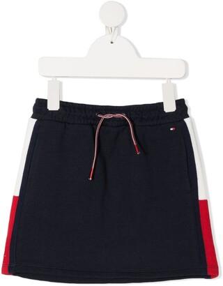 Tommy Hilfiger Junior Colour-Block Cotton Skirt