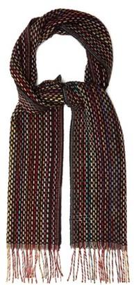 Paul Smith Signature-stripe Woven Cashmere Scarf - Mens - Multi