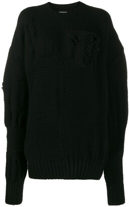 Ann Demeulemeester Distressed Effect Jumper
