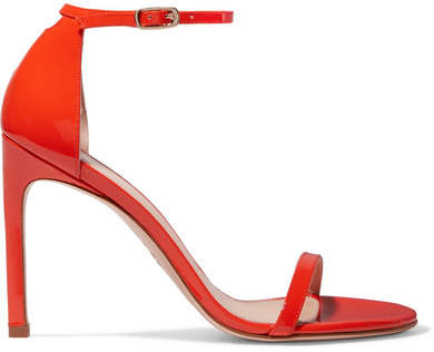Stuart Weitzman Nudistsong Patent-leather Sandals - Red