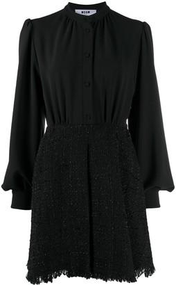 MSGM Boucle-Skirt Mini Dress