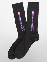 Calvin Klein Combed Cotton Blend Square Design Socks