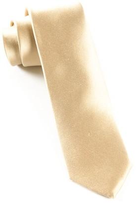 Tie Bar Solid Satin Light Champagne Tie