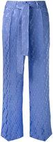 Etro wide-leg cropped trousers - women - Silk/Viscose - 38