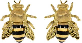 Verdura 18kt yellow gold Honeybee stud earrings