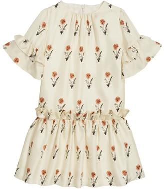 Oscar de la Renta Ruffled Flower Dress