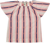Anthem of the Ants Variegated Striped Cotton Blouse