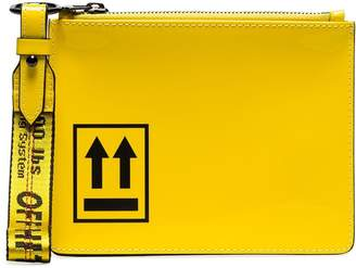 Off-White arrow printed pouch bag