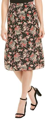 Anna Sui Mermaid Silk Pencil Skirt