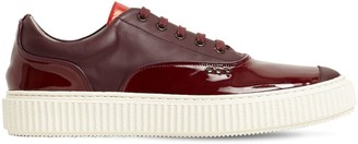 Me.Land Low Top Patent & Matte Leather Sneakers
