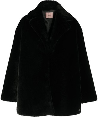Twin-Set Faux Fur Single-Breasted Coat