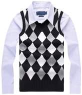 BATUOS Men's Argyle Sweater Golf Vest