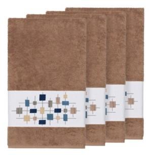 Linum Home Khloe 4-Pc. Embroidered Turkish Cotton Bath Towel Set Bedding