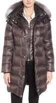 Andrew Marc Women's Down Coat With Genuine Fox Fur