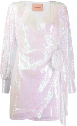 Andamane Carly sequinned wrap dress