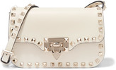 Valentino The Rockstud Micro Leather Shoulder Bag - Ivory