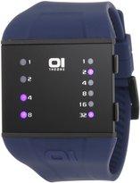 01 The One 01TheOne SLS202B3BL 44mm Blue Steel Bracelet & Case Mineral Men's Watch