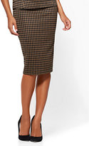 New York & Co. Pull-On Pencil Skirt - Camel - Houndstooth
