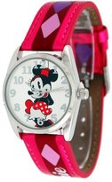 Disney B Women's Minnie Mouse Watch with Printed Band
