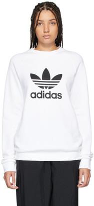 adidas White Trefoil Crew Sweatshirt