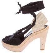 Stella McCartney Platform Lace-Up Sandals