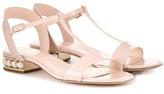 Nicholas Kirkwood Casati Embellished Patent Leather Sandals