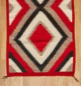 Rejuvenation Vintage Navajo Eye Dazzler Rug w/ Ganado Red Dye